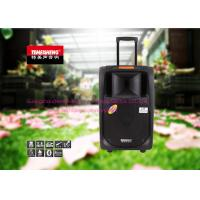 Black Portable Trolley Audio Box Speaker With USB / SD / FM / Bluetooth Function
