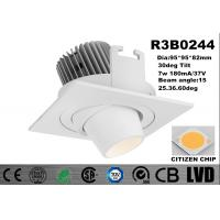 New Module 7w Recessed 2700-3000K Adjustable Aluminum White Dim IP20 LED Downlights Manufactures