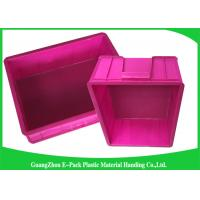 Mini Load Euro Containers With Lids , Standard Plastic Stacking Boxes PP Materials Manufactures