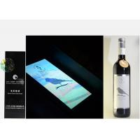 Silver Foil Embossed Wine Label Stickers , Custom Wine Bottle Labels For Security Mark Manufactures