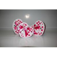 Heart shaped paper chocholate packaging box with ribbon type 3