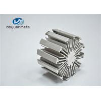 Heat Sink Silver Anodizing Extruded Aluminium Profiles / Extruded Aluminum Shapes