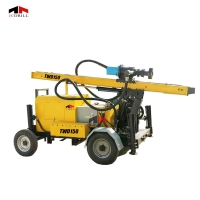 High Speed 150m Trailer Mounted Borewell Rig Machine Manufactures