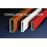 Red 6060 6061 6063 Aluminum Curtain Wall Profile 1.2 / 1.4 Thinckness Manufactures