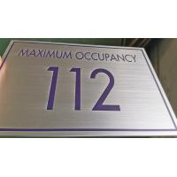 3mm  Custom Metal Signs Brushed Stainless Steel Metal Plaques With Uv Printed Text Manufactures