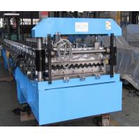 China Roofing Barrel Corrugated Sheet Metal Roll Forming Machines PLC Controlled System on sale