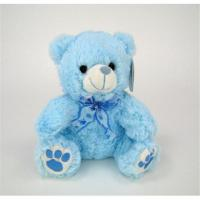 China 8cm Small Blue Teddy Bear Stuffed Animal Paw Print For Boy Baby Shower Gift on sale