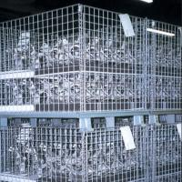 Heavy-duty Warehouse Metal Mesh Storage Cage 50*50mm with Electric Galvanized Finish Manufactures