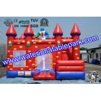 Buy cheap Red Castle Inflatable Moonwalk / Inflatable Bouncer With Slide For Toddler from wholesalers