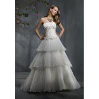 China a-Line Strapless Bridal Gown on sale