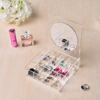 Clear Acrylic Jewelry Display Jewelry Display Set Storage With Mirror OEM Service Manufactures