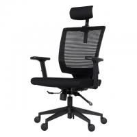 Smart  black grey blue ergonomic office chair with headrest  armrest Manufactures