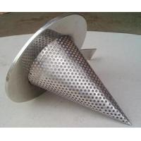 Cheap 1/4'' Perforated Holes Conical Or Basket Type strainer Mounting Between Two Flanges for sale
