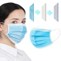 Anti flu face disposable mask 3 ply nonwoven layer disposable particulate respirator pollution masks with CE Manufactures