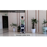 Retractable 14 Step 4.1m Aluminum Telescoping Ladder Manufactures