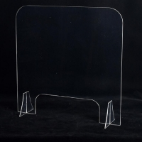 Hotel Office RAL 24mm Acrylic Desk Divider Panels Manufactures