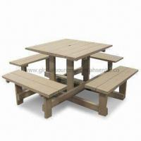 Outdoor Table Set Made of 60% Bamboo/Wood Fiber Manufactures
