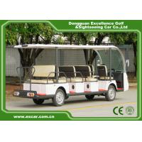 White Electric Sightseeing Cart For 14 Person 4500 * 1500 * 200 MM