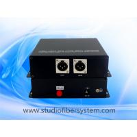 2CH Unidirectional XLR balanced audio over fiber extender for broadcast system