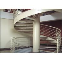 Modern House Custom Spiral Staircase Stainless Steel Material Round Design Manufactures