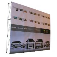 Easy Installation Trade Show Backdrop Displays Folding Banner Stand Smooth Surface Manufactures