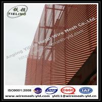 Anodized red color aluminum expanded metal for wall facade/cladding Manufactures