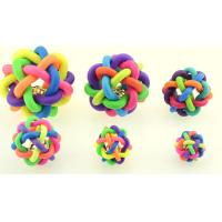 China pet products pet toy dog sound bolls  with bell colorful pet favorite toy on sale