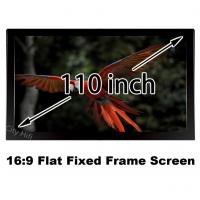 Buy cheap Best Price 110inch HD Projection Screen 16:9 Straight Fixed Frame Projector from wholesalers