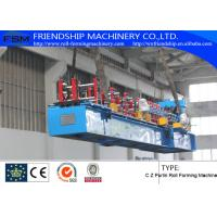 1.5-2.5mm Thickness And Durable C Z Purlin Roll Forming Machines With 18 Forming Stations Manufactures