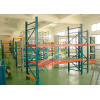 Double Deep Pallet Racking System For Warehouse , Each Level Adjustable Pallet Racking Box Shape Beam Manufactures