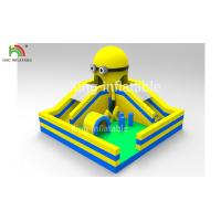Yellow Minions Indoor Bouncy Inflatable Jumping Castle Obstacle Dry Slide OEM Manufactures