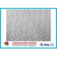 Cheap Anti Static White Spunlace Nonwoven Fabric For Wet Wipes , Customzied size for sale