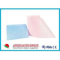 Cheap Viscose And Polyester Spunlace Nonwoven Fabric Roll For Widely Used , High tensile strength for sale