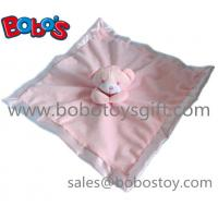 High Quanlity Saft Plush Pink Bear Baby Toy Softest Baby Comforter Bib Manufactures