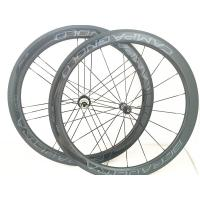 V Brake Lightweight Carbon Fiber Bike Wheels Clincher Wheelset  Custom Decal Manufactures