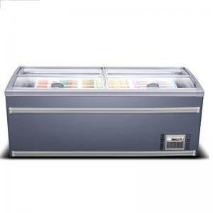 1500 Liters Supermarket Island Freezer For Package Meat Frozen Manufactures