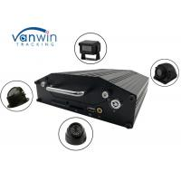 RS232 720P 4G 4 Channel Mobile DVR Onboard Cameras Inputs Bus Router With Hard Drive Manufactures