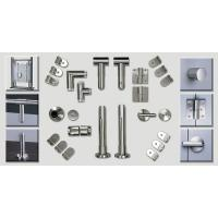 Bathroom Toilet Cubicle Hardware Cubicle Partition Accessories Stainless Steel For WC Manufactures