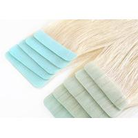 Glossy Blonde Tape In Hair Extensions High Durability No Split Easy To Wear Manufactures