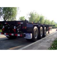 Buy cheap 3 Axle 40ft Flatbed Container Trailer With High Tensile Strength Chassis from wholesalers