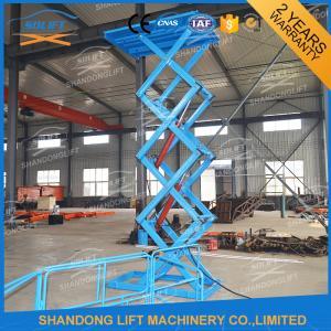 China Materials Lifting Warehouse Hydraulic Cargo Scissor Lift 1.6 ton 3.8m on sale