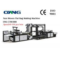 Specially Designed Non Woven Carry Bags Manufacturing Machine High Out Put 100pcs / Min Manufactures