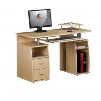 China White Exquisite Wood Office Desks 15mm PB / MDF Panel With Hutch DX-8514 on sale