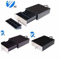 Cheap Custom Black Electronic Cash Drawer With Metal Front Panel For POS Machine for sale