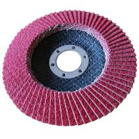 Buy cheap 125 MM red Ceramic flap disc with T27 fiberglass backing from wholesalers