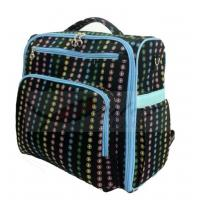 Professional Black Backpack Diaper Bag / Personalized Diaper Bags For Boys