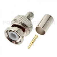 BNC-6059 Three-Piece BNC Male Crimp Connector to RG59 CCTV Coaxial Cable Manufactures