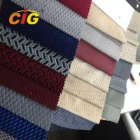 Cut Pile acquard 200gsm Upholstery Polyester Fabric For Bus Seats Cover Manufactures