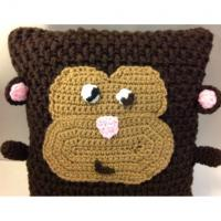Handmade Crochet Knit Monkey Ape Chimp Plush Pillow Room Nursery Decor Manufactures