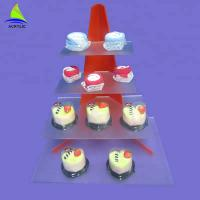 Custom Acrylic Cake Tray Cupcake Stand Customized Thickness CE Certification Manufactures